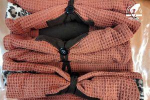 Bolsa de tela estilo toalla